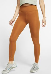 Nike Performance - ONE LUXE - Tights - burnt sienna - 0