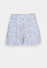 Hollister Co. - CHAIN RUFFLE HEM - Shorts - white/blue - 3