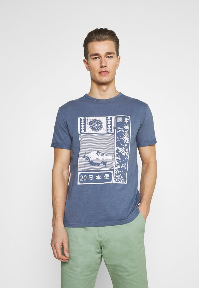 GALINDO - Print T-shirt - china blue