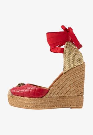 KARMEN - High heeled sandals - red