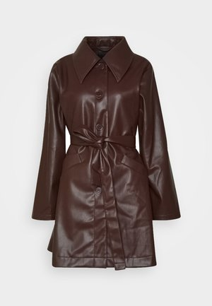 RORI JACKET - Faux leather jacket - brown