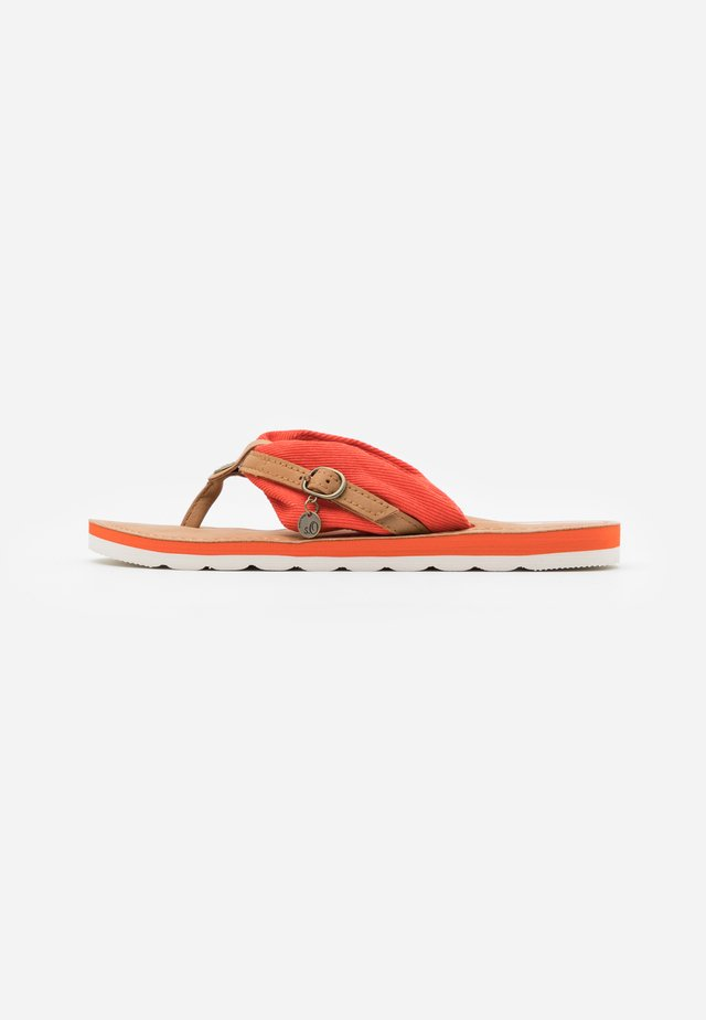 SLIDES - T-bar sandals - orange
