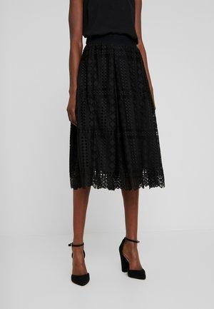 SKIRT - A-snit nederdel/ A-formede nederdele - pitch black