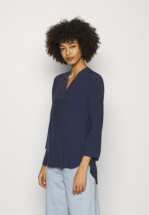 Basic V neck Blouse - Pusero - dark blue
