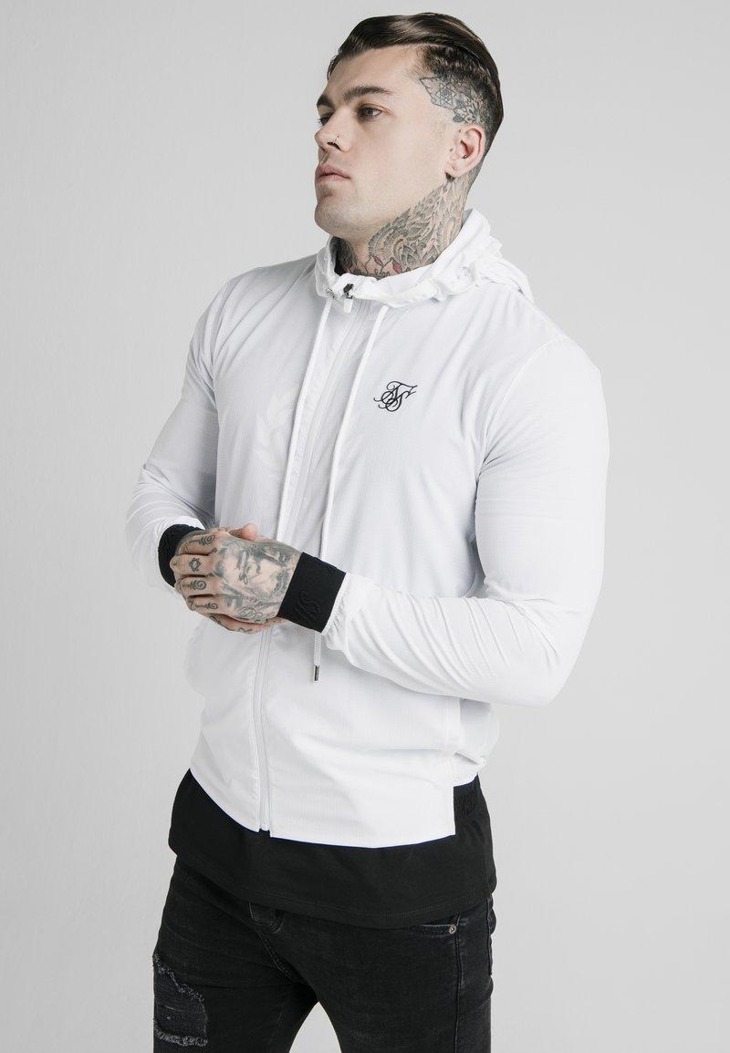 SIKSILK - Hoodie met rits - white