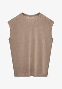 Massimo Dutti - Basic T-shirt - nude - 3