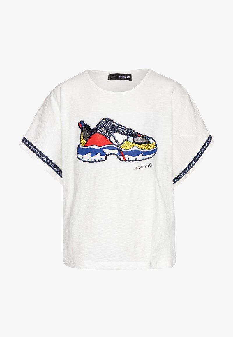 Desigual - DERBY - Camiseta estampada - blanco