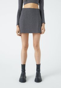 PULL&BEAR - A-line skirt - mottled dark grey - 2