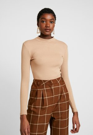 BRANDI HIGH NECK LONG SLEEVE - Top s dlouhým rukávem - tan