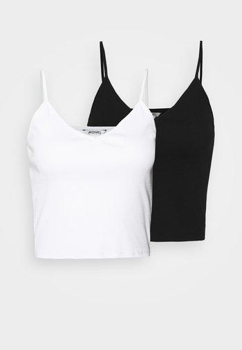 TRICIA SINGLET 2PACK - Top - black/white