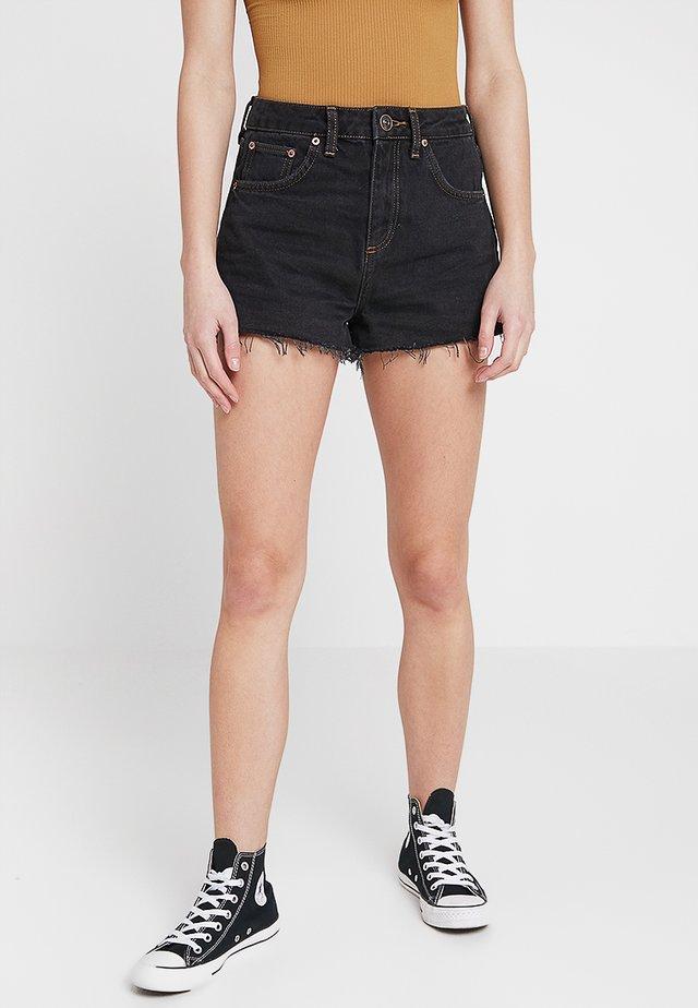SHORT - Shorts di jeans - black