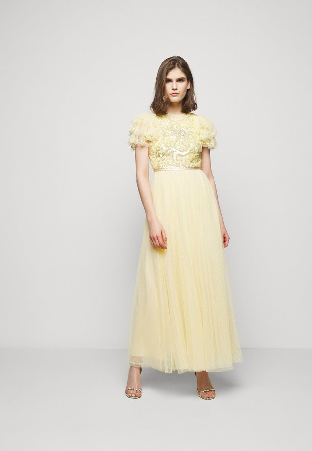 SHIRLEY RIBBON BODICE  DRESS - Abito da sera - lemon curd