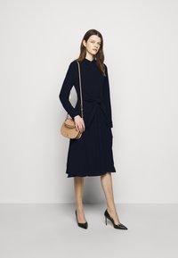 Lauren Ralph Lauren - TRIPLE GEORGETTE DRESS - Day dress - navy - 1