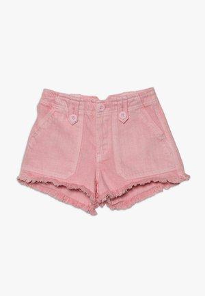 UTILITY POCKET BUTTON - Džínové kraťasy - bright pink