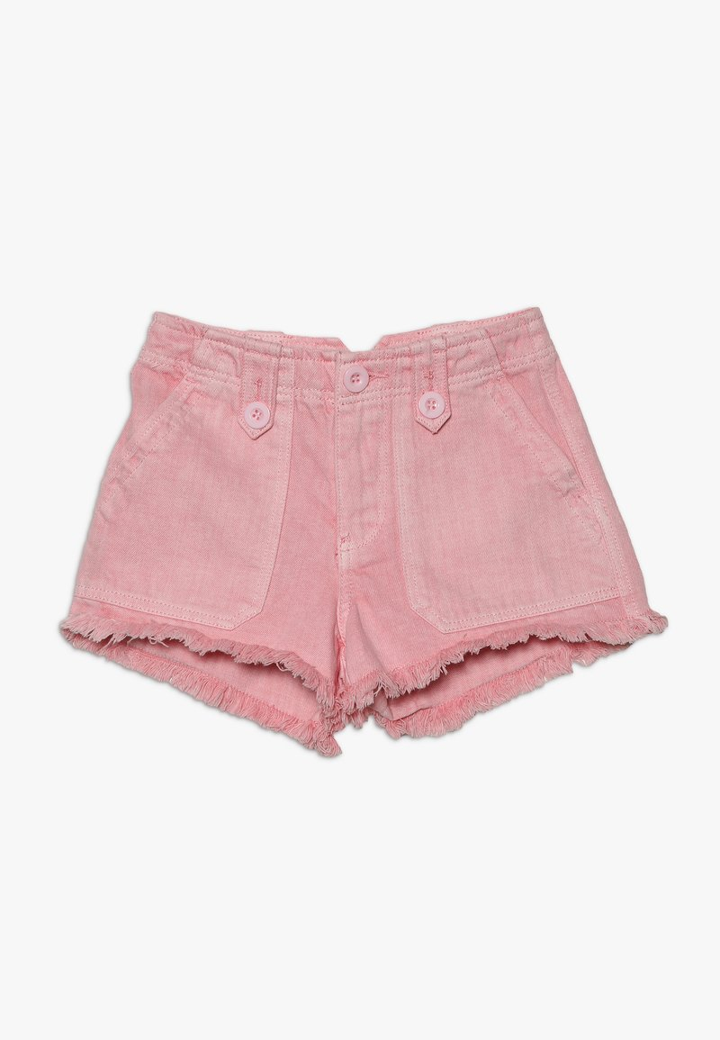 New Look 915 Generation - UTILITY POCKET BUTTON - Denim shorts - bright pink