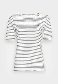 SHORT SLEEVE ROUND NECK STRIPED - Print T-shirt - multi/white