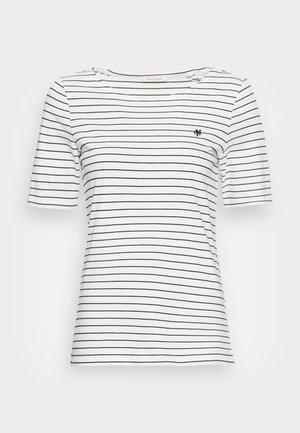 SHORT SLEEVE ROUND NECK STRIPED - T-shirt z nadrukiem - multi/white