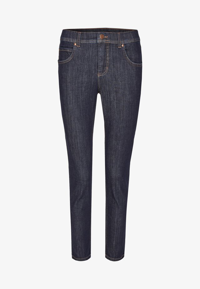 MIT MODISCHEM CRINKLE-EFFEKT - Slim fit jeans - dunkelblau