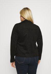 Zizzi - ESUS JACKET  - Faux leather jacket - black - 2