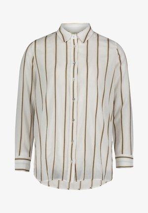 MIT KRAGEN - Button-down blouse - white/grey