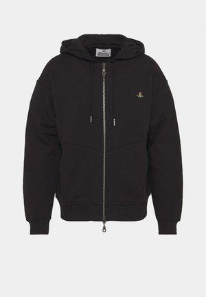 RUGGED ZIP HOODIE - Zip-up sweatshirt - black