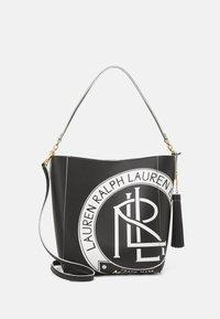Lauren Ralph Lauren - ADLEY SHOULDER MEDIUM - Handbag - black/white - 1
