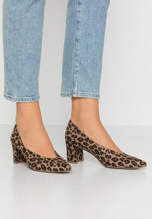 Classic heels - desert/multicolor