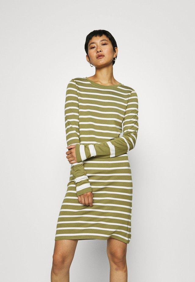 DETAIL STRIPE DRESS - Robe en jersey - olive green