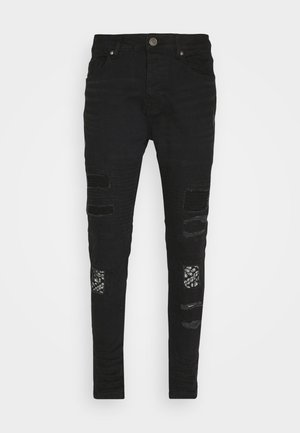 BANDANA - Džíny Slim Fit - charcoal wash