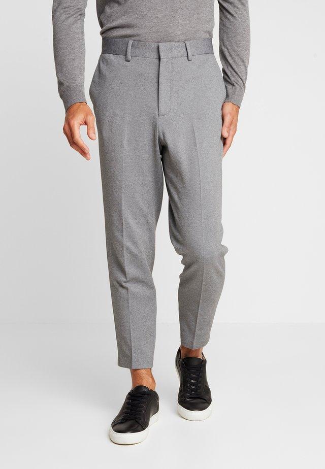 SLHSLIMTAPERED NEWJERSEY CROP PANTS - Pantaloni - grey melange