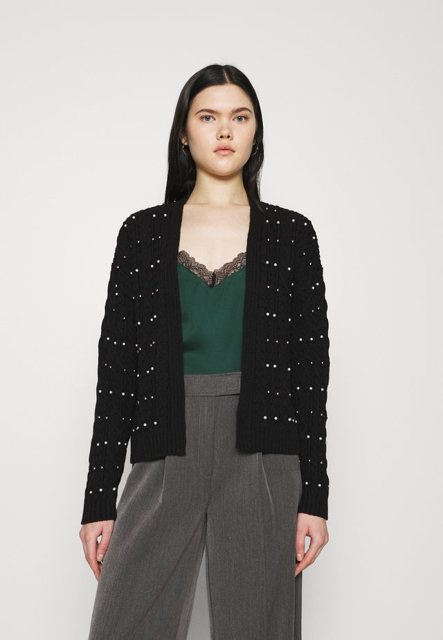 BEADED TWINSET  - Gilet - black