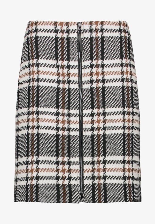 A-line skirt - schwarz/ecru/weiss gemustert