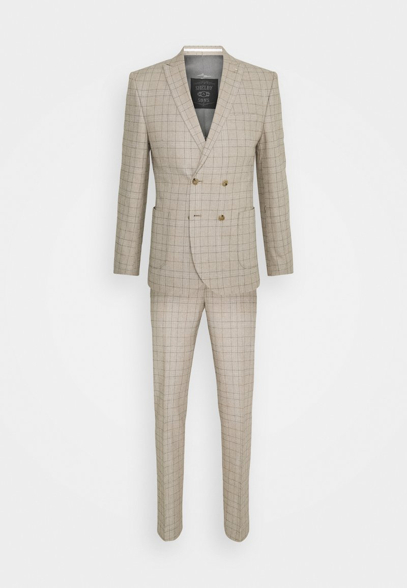 Shelby & Sons - ROSSENDALE SUIT SET - Puku - beige/white/black/baby blue