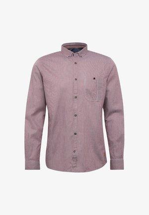 Shirt - burgundy/white