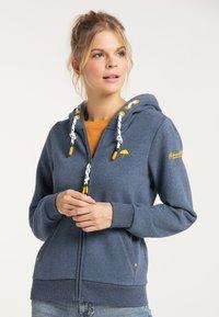 Schmuddelwedda - Zip-up sweatshirt - marine melange - 0