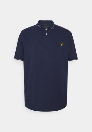 BRANDED COLLAR - Polo shirt - navy