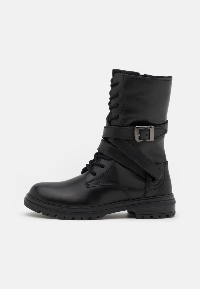 Friboo - LEATHER - Lace-up boots - black