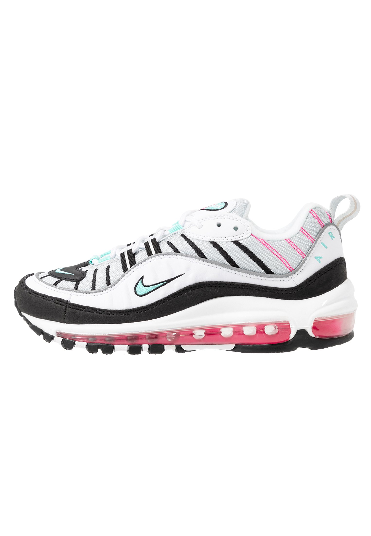 AIR MAX 98 - Sneakers laag - pure platinum/aurora green/black/pink  blast/white