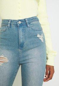 Missguided - SINNER HIGHWAISTED DESTROYED - Jeans Skinny Fit - light blue - 5