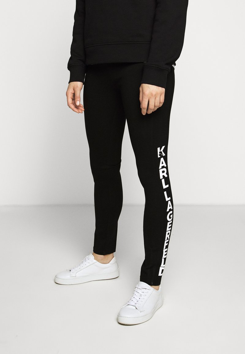 KARL LAGERFELD - PUNTO LOGO - Leggings - Trousers - black