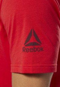 Reebok - UFC FAN GEAR LOGO TEE - Print T-shirt - red - 3