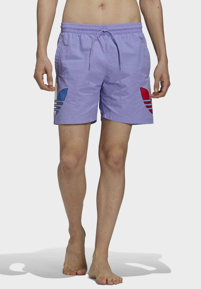 ADICOLOR TRICOLOR - Swimming shorts - purple