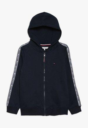 ESSENTIAL TAPE ZIP THROUGH - Zip-up hoodie - blue