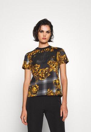Print T-shirt - black/multi