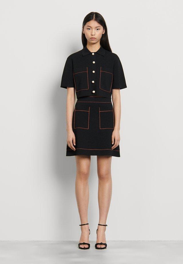 ELANNA - A-snit nederdel/ A-formede nederdele - noir