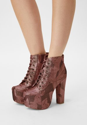 LITA - High heeled ankle boots - pinke