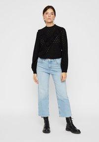 Pieces - Straight leg jeans - light blue denim - 1