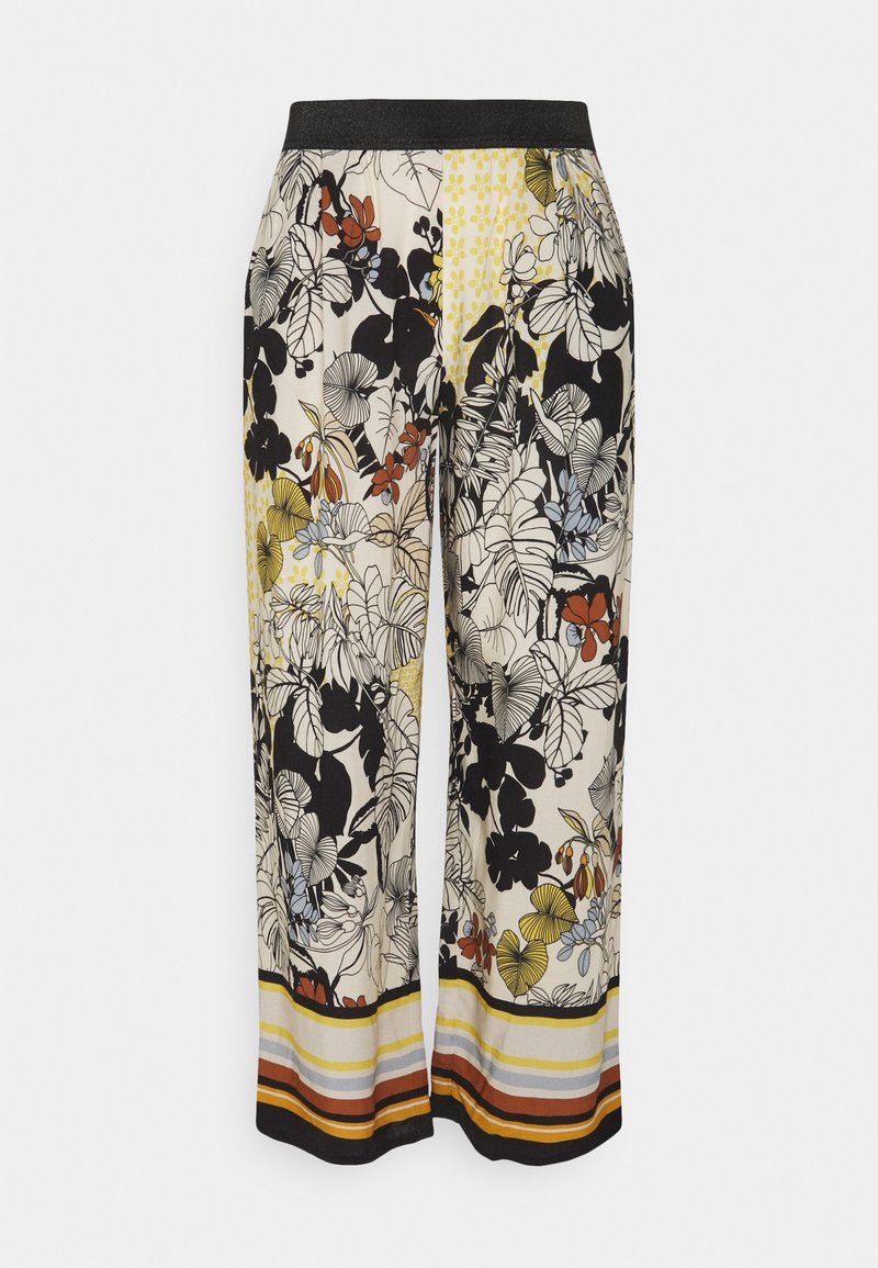 More & More - TROUSER - Trousers - sunny yellow multi