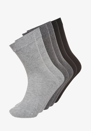 6 PACK - Socks - black/anthrazit melange/grau melange