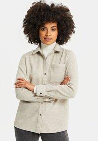 WE Fashion - Button-down blouse - beige - 0
